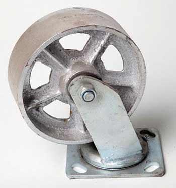"steel caster 6"""